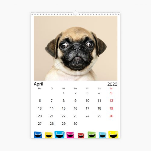 Fotokalender - bunte Monster