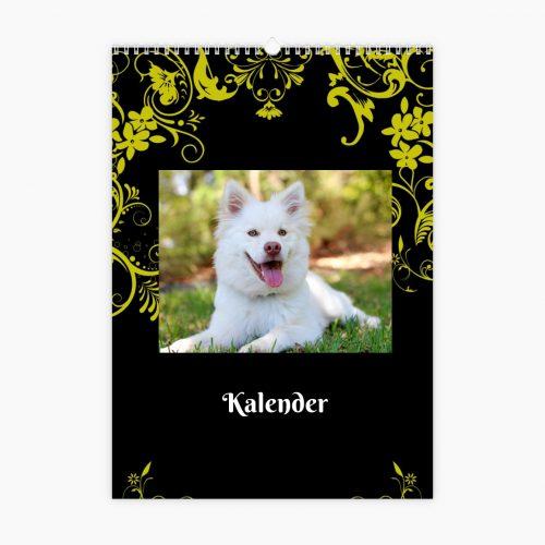 Fotokalender - goldene Ornamente