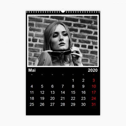 Fotokalender - klassisches Schwarz