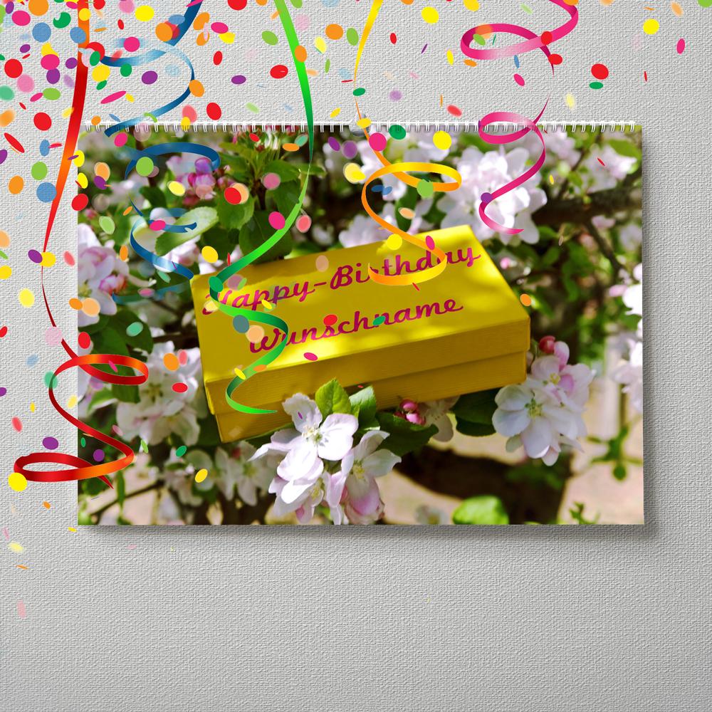 Kalender mit Namen zum Geburtstag – Geschenk im Baum