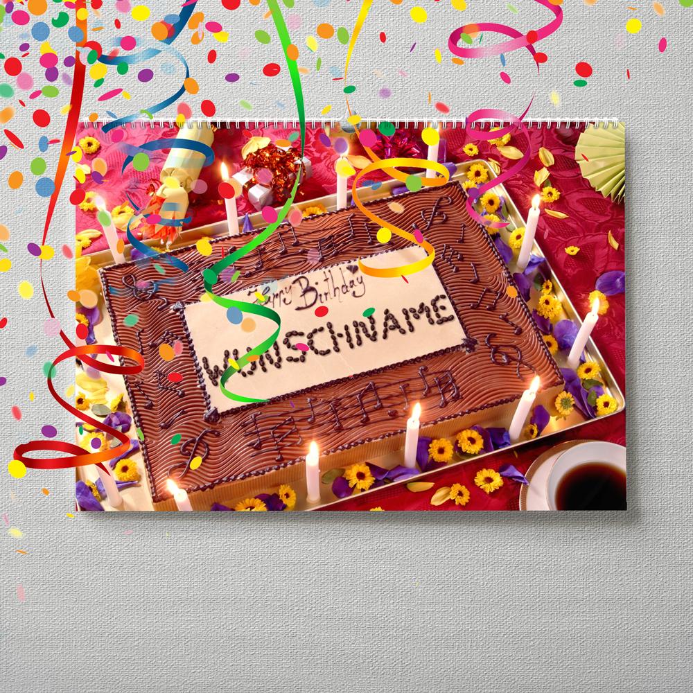 Kalender mit Namen zum Geburtstag – Musiktorte