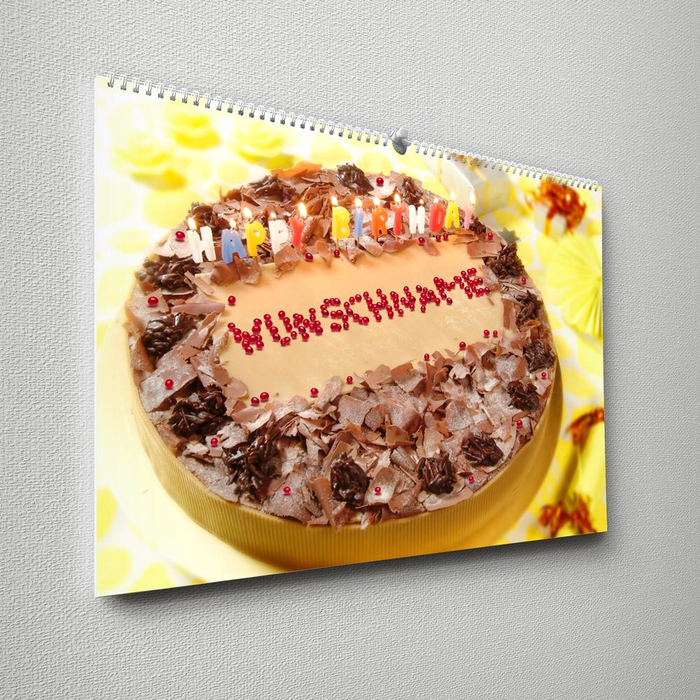Kalender mit Namen zum Geburtstag