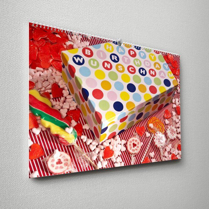 Kalender mit Namen zum Geburtstag – buntes Geschenk