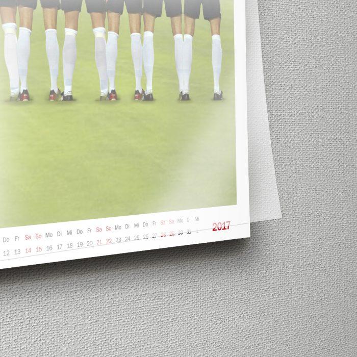 Wandkalender Fussball
