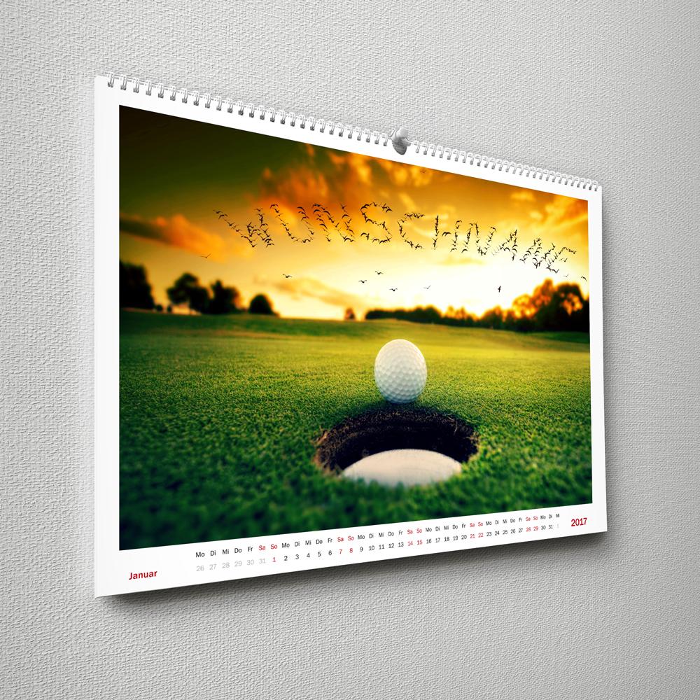 Wandkalender Golf