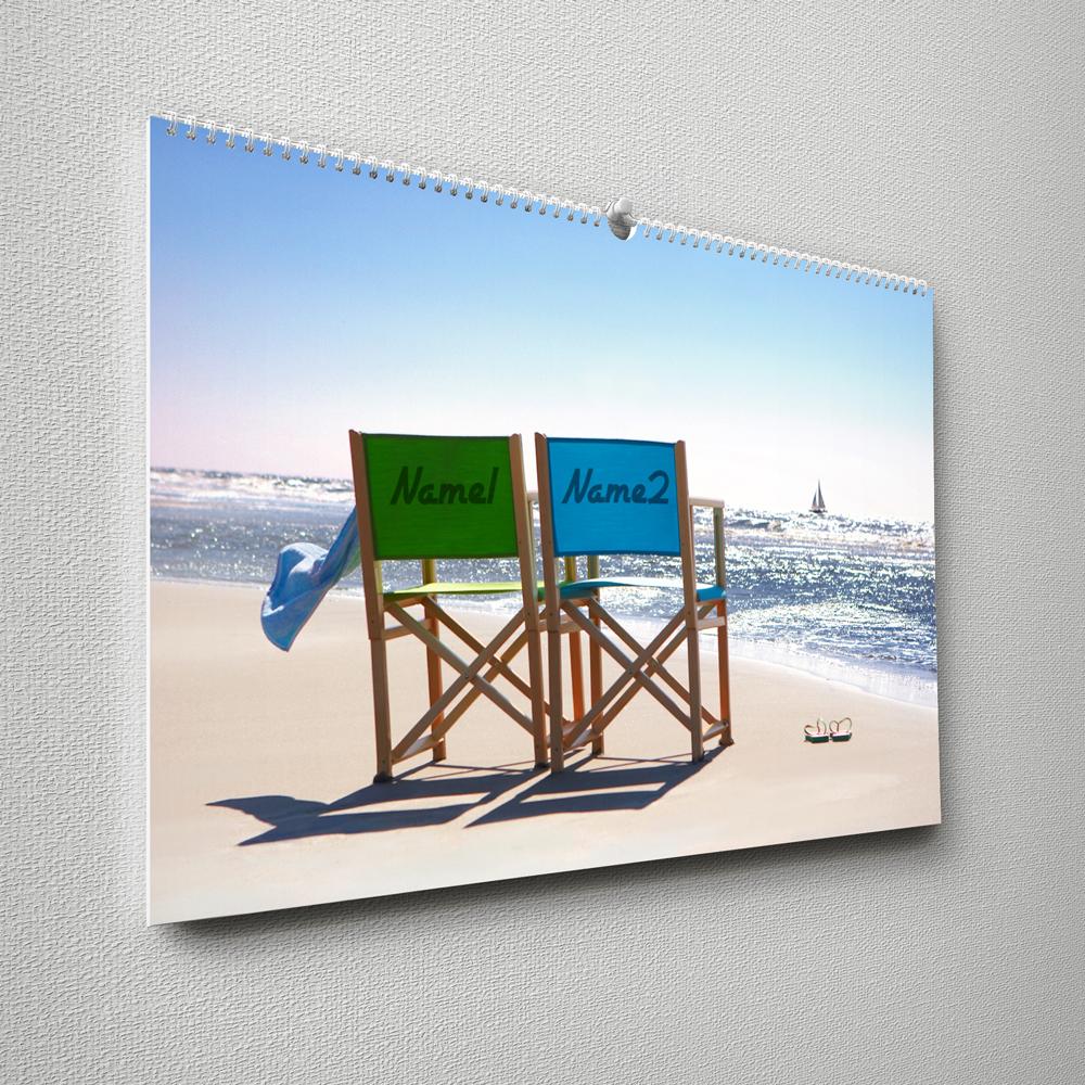 Paar Kalender für die Wand