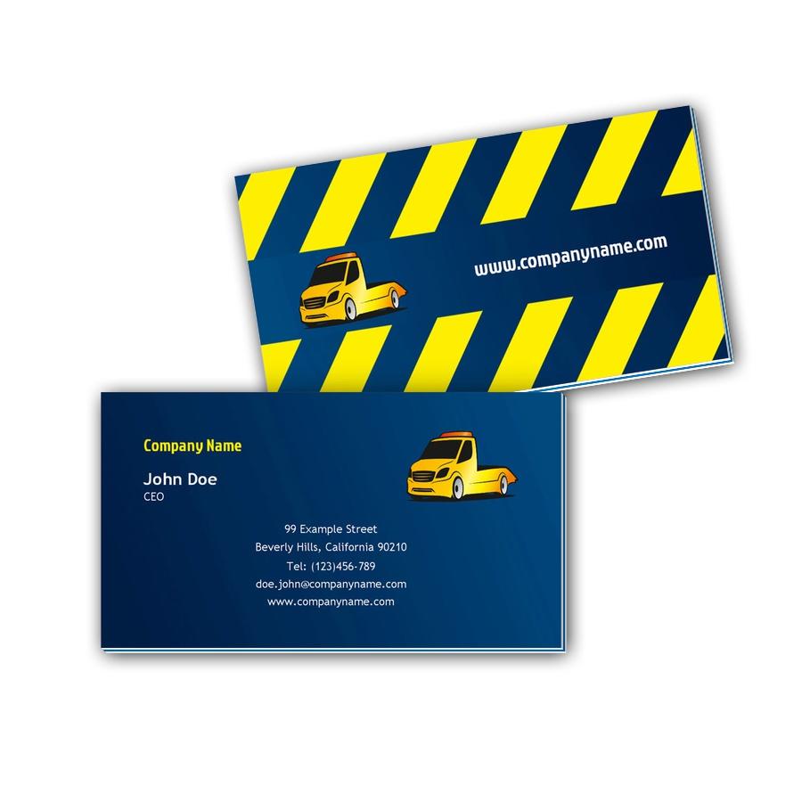 Visitenkarten mit Farbkern - Abschleppdienst