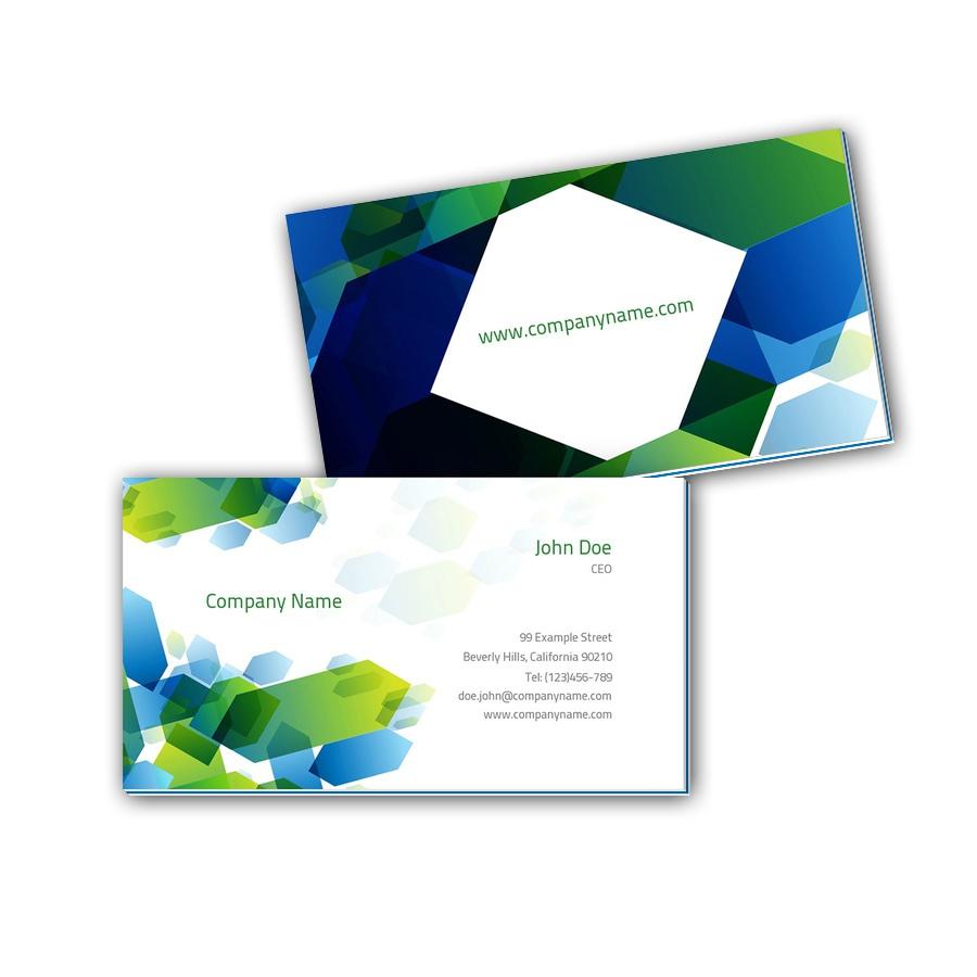 Visitenkarten mit Farbkern - Abstrakt