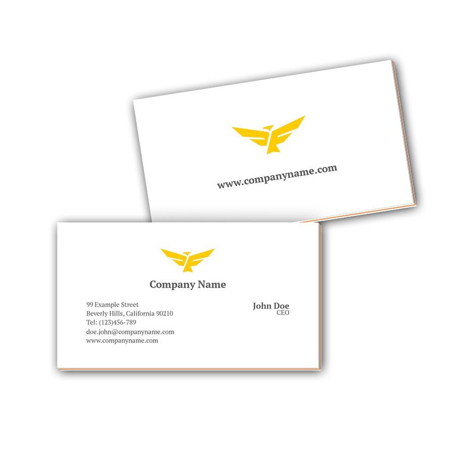 Visitenkarten mit Farbkern - Adler