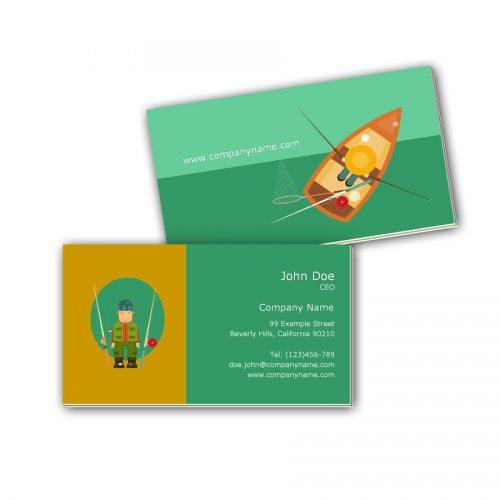Visitenkarten mit Farbkern - Angler
