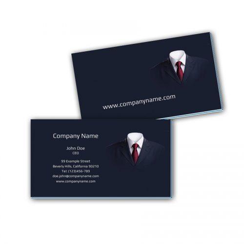 Visitenkarten mit Farbkern - Anzug