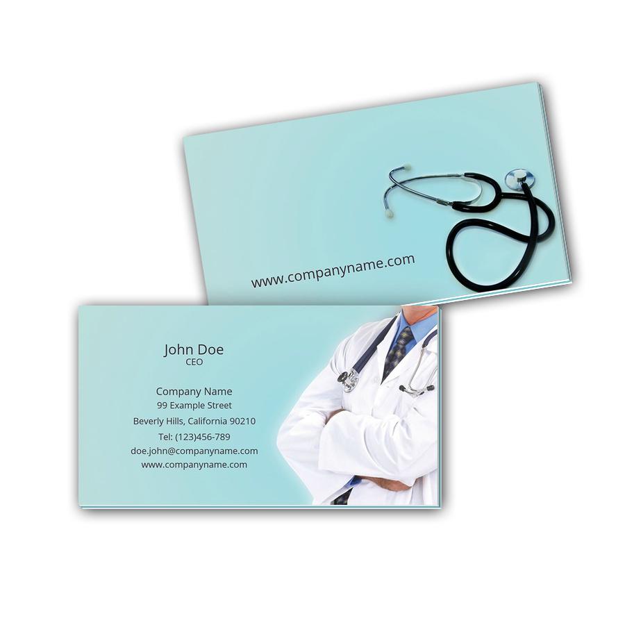 Visitenkarten mit Farbkern - Arzt 2