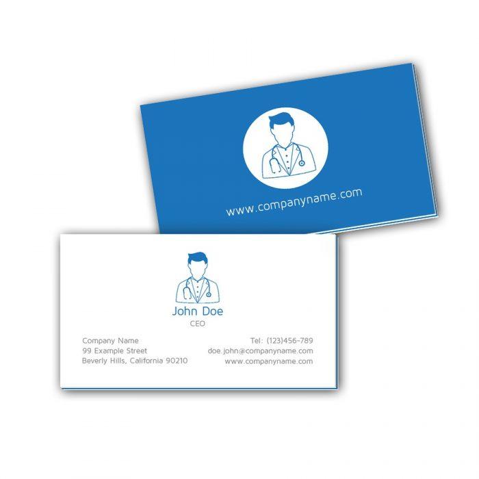 Visitenkarten mit Farbkern - Arzt 3
