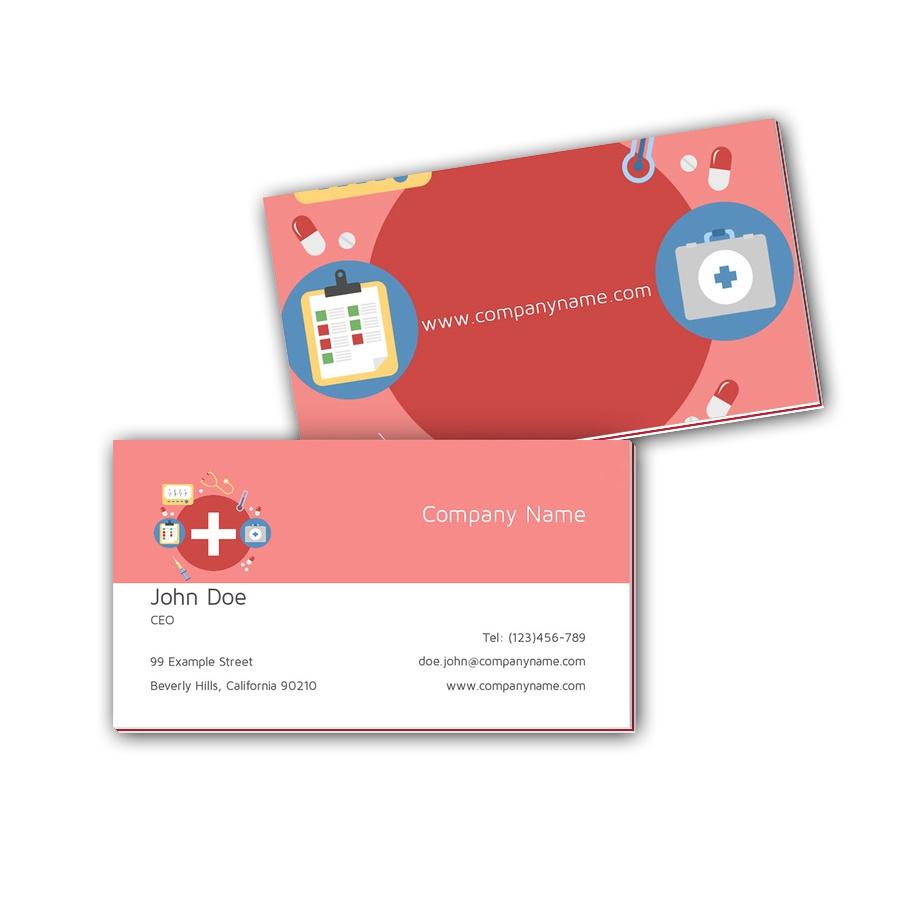 Visitenkarten mit Farbkern - Arzt 4