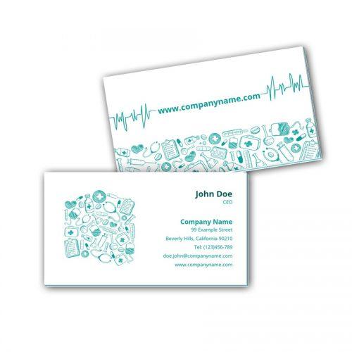 Visitenkarten mit Farbkern - Arzt 5