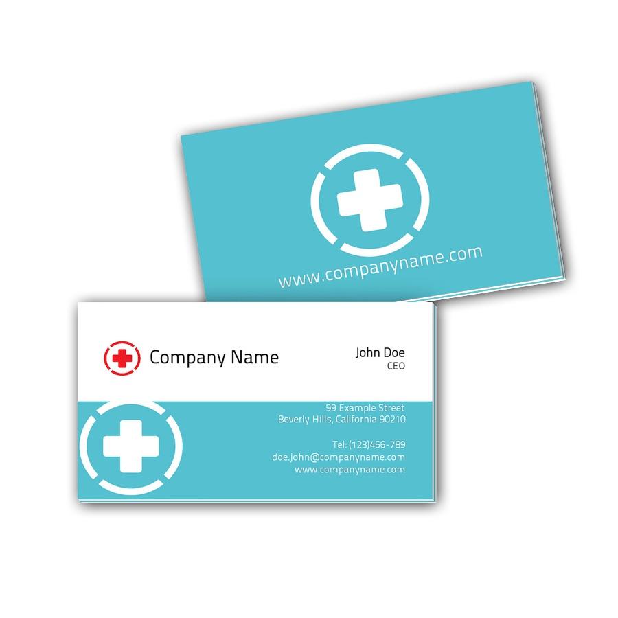 Visitenkarten mit Farbkern - Arzt 6