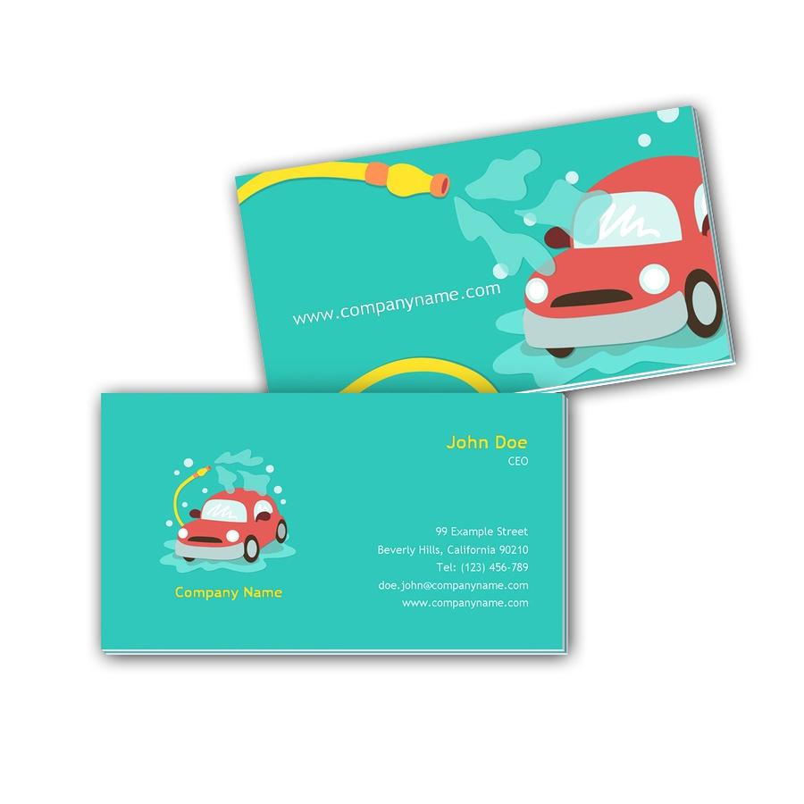 Visitenkarten mit Farbkern - Autowäsche