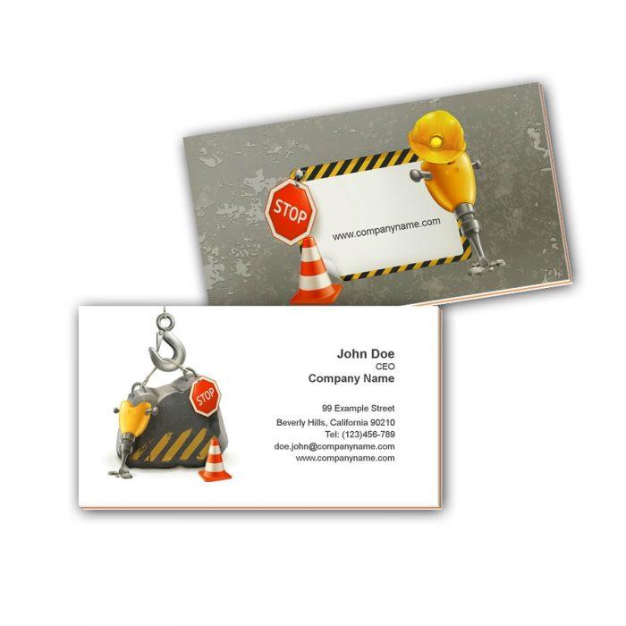 Visitenkarten mit Farbkern - Baufirma
