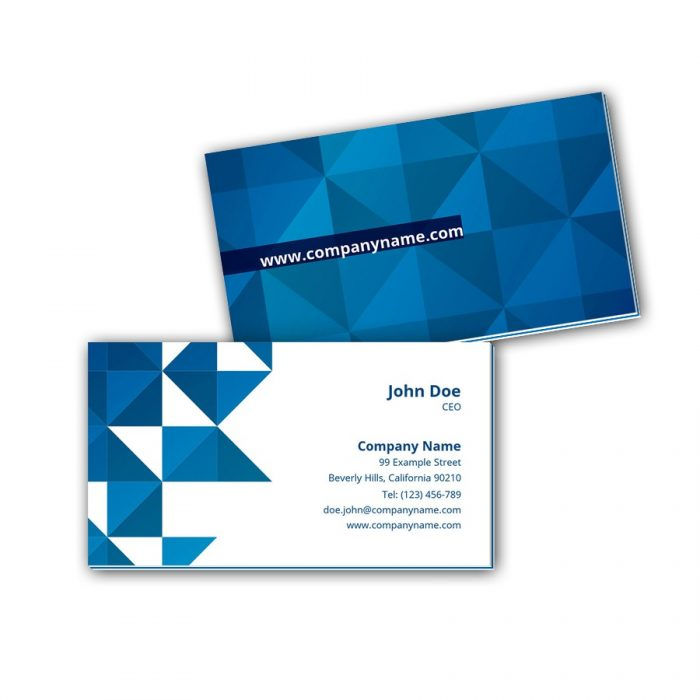 Visitenkarten mit Farbkern - Blaues Mosaik