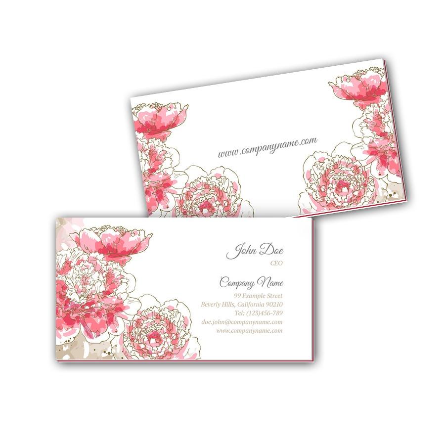 Visitenkarten mit Farbkern - Blumen