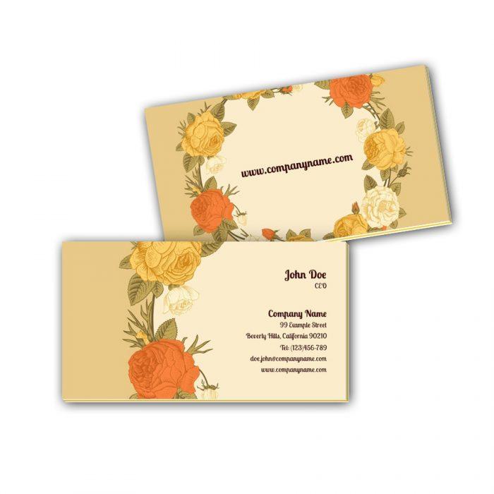 Visitenkarten mit Farbkern - Blumenschmuck