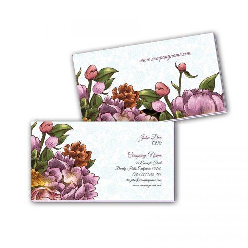 Visitenkarten mit Farbkern - Blumenstrauß