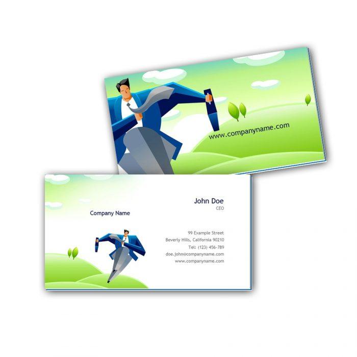Visitenkarten mit Farbkern - Business