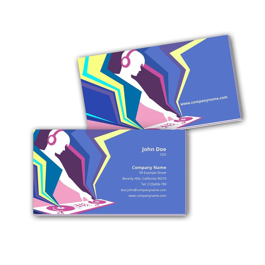 Visitenkarten mit Farbkern - DJ 2