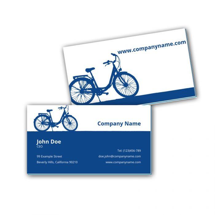 Visitenkarten mit Farbkern - Fahrrad