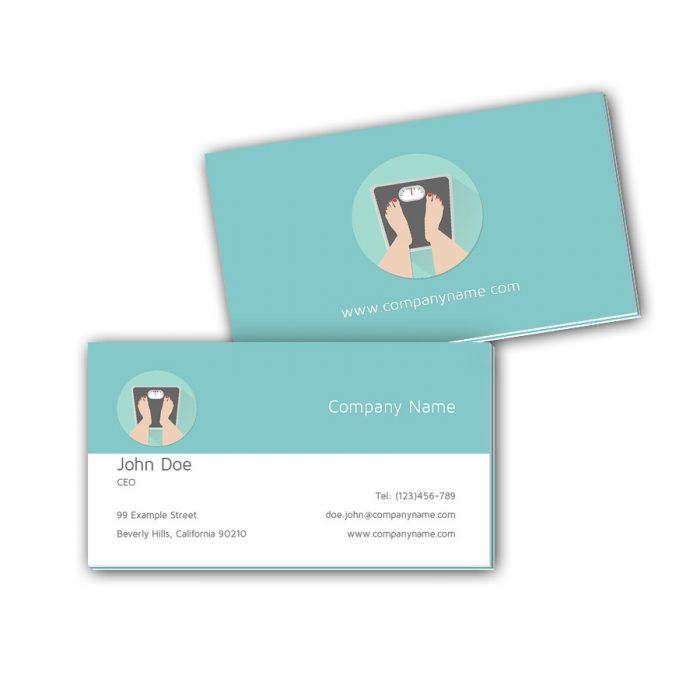 Visitenkarten mit Farbkern - Familienarzt