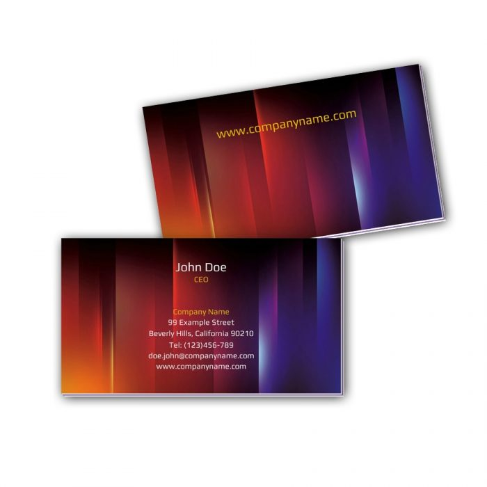 Visitenkarten mit Farbkern - Farben und Licht