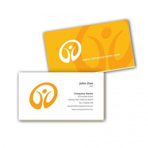 Visitenkarten mit Farbkern - Fitness