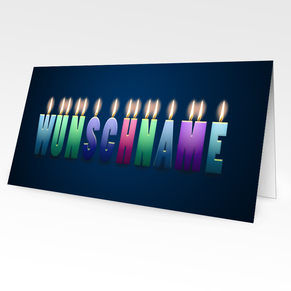 personaliserte Geburtstagskarten mit Namen