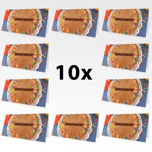 Geburtstagskarten mit Namen 10er Pack – Motiv 5