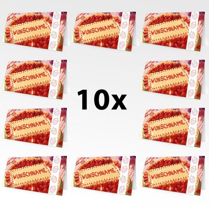 Geburtstagskarten mit Namen 10er Pack – Motiv 6