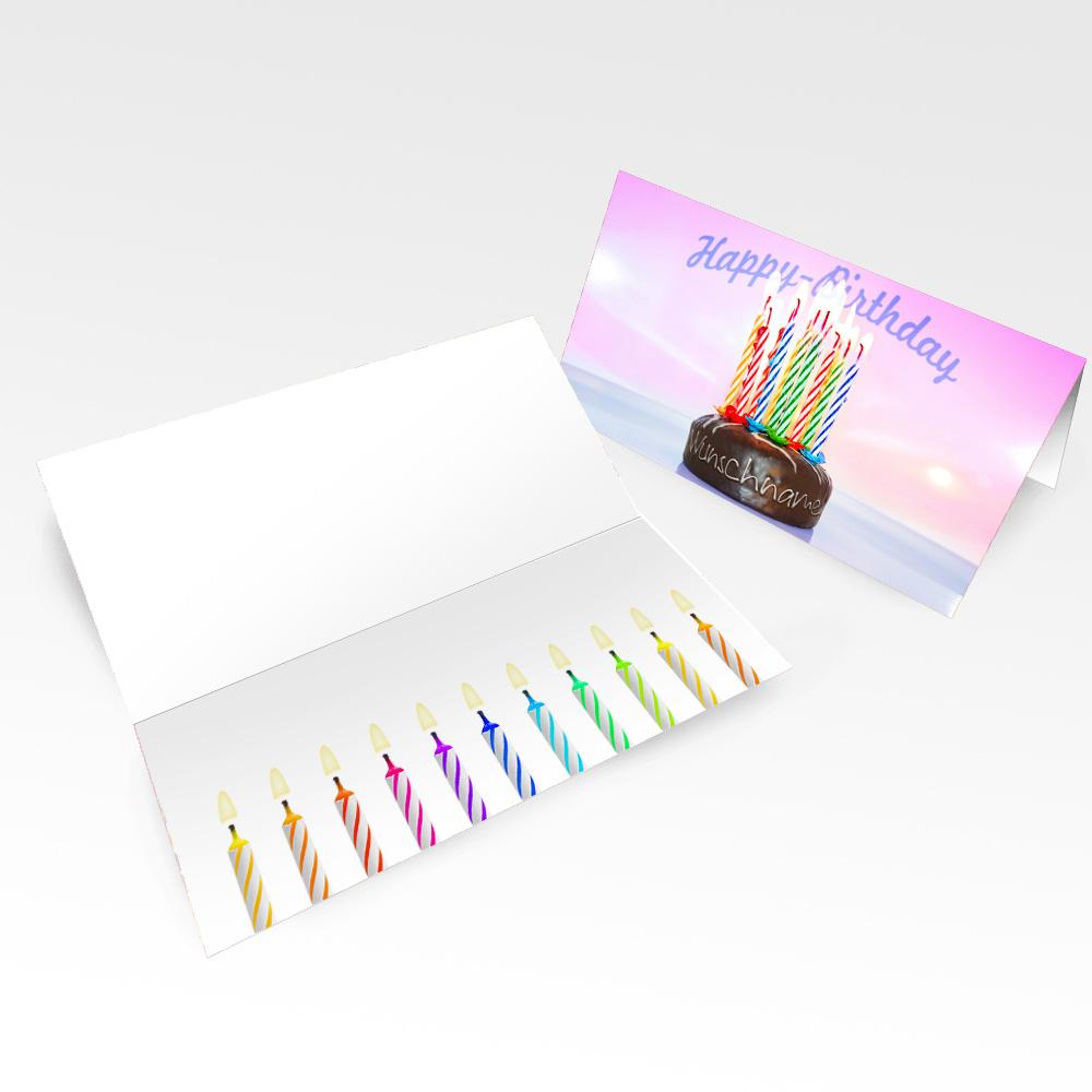 Geburtstagskarten mit Namen 10er Pack – Motiv 11