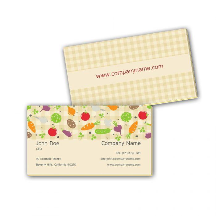 Visitenkarten mit Farbkern - Gemüse