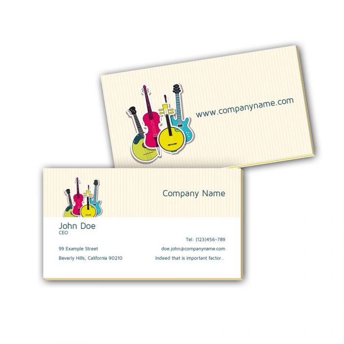 Visitenkarten mit Farbkern - Gitarren