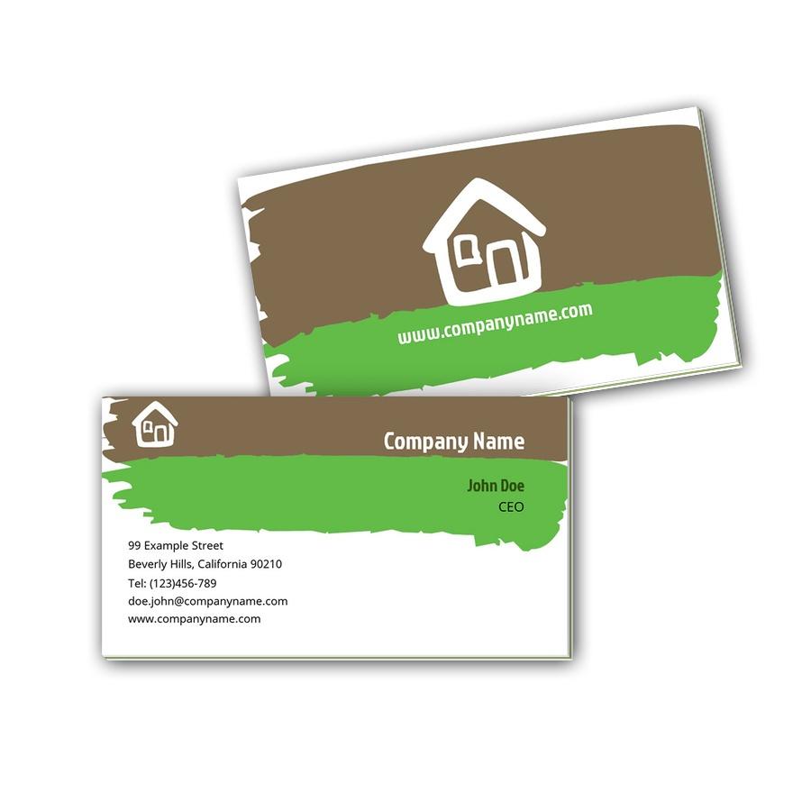 Visitenkarten mit Farbkern - Haus 2