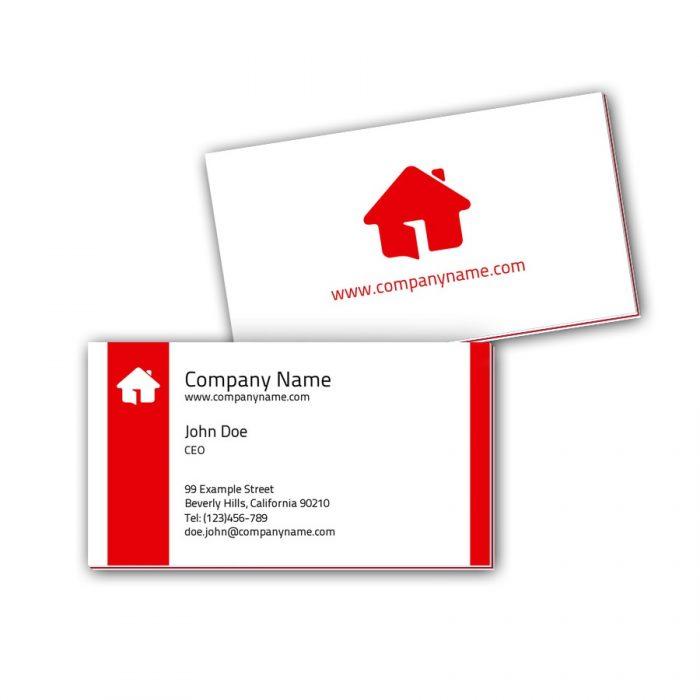 Visitenkarten mit Farbkern - Haus
