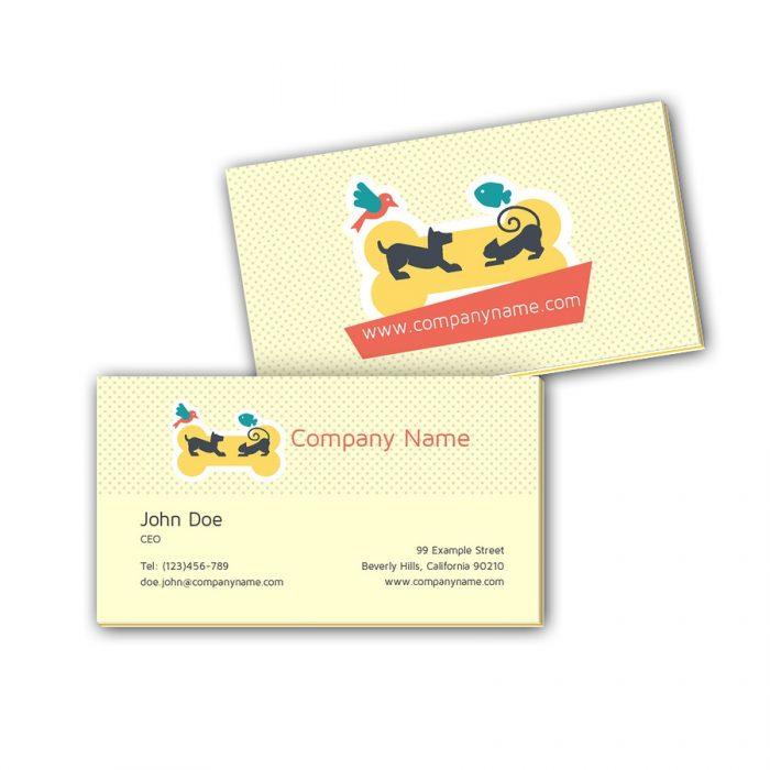 Visitenkarten mit Farbkern - Hund & Katze