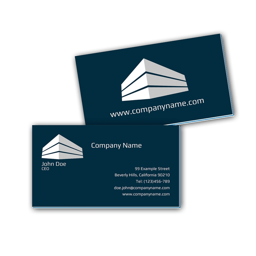 Visitenkarten mit Farbkern - Immobilie