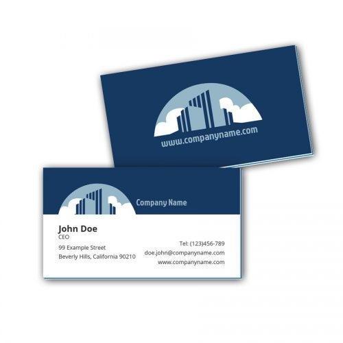 Visitenkarten mit Farbkern - Immobilien 2