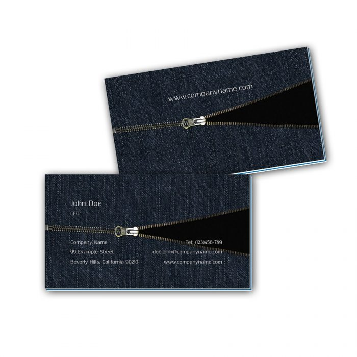 Visitenkarten mit Farbkern - Jeans