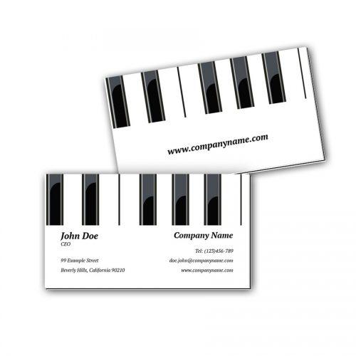Visitenkarten mit Farbkern - Klavier 2