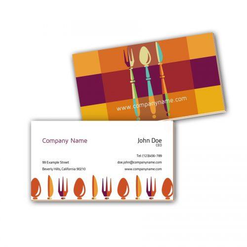 Visitenkarten mit Farbkern - Kochen 2