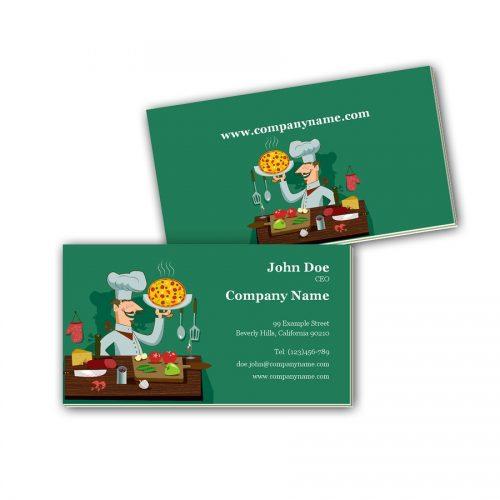 Visitenkarten mit Farbkern - Kochen