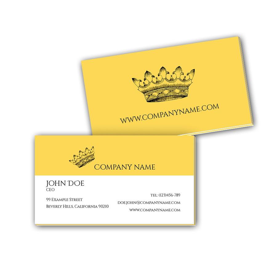 Visitenkarten mit Farbkern - Krone