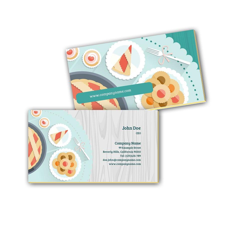 Visitenkarten mit Farbkern - Kuchen 2