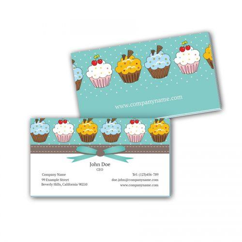 Visitenkarten mit Farbkern - Kuchen